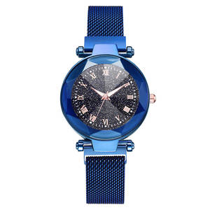 Quartz-Watch Mesh-Band Magnetic-Buckle Fashion Women Simple Alloy with LXH Dial Starry-Sky