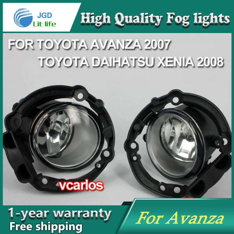 2PCS/Pair Halogen Fog Light For Toyota Avanza 2007 High Power Halogen Fog Lamp Auto DRL Lighting Led Headlamp 2pcs pair led fog light for toyota corolla axio 2007 high power led fog lamp auto drl lighting led headlamp