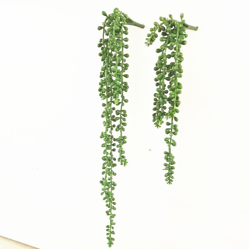 New Artificial Senecio Radicans Succulents Plastic Green Plant Fake Floral Garden Home Office Decoration Fake Greenery Plants(China)