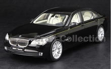 Kyosho 1/18 Black 7 Series 760 750 760Li Active Hybird (F04) 2012 Diecast Model Car Classic Toys Luxury Vehicle