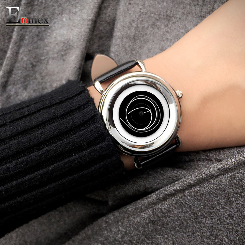 2017 Ladies gift new style watch Enmex creative design cutting-edge fashion coil of the angle face  quartz stunning wristwatch 2017 gift enmex the beauty of abstract design wristwatch creative dial stainless steel simple fashion for young peoples watches