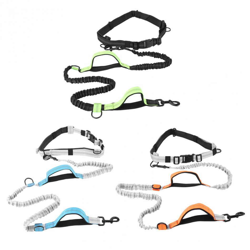 3 Colors Hands Free Dog Leash with Waist Belt Puppy Dog