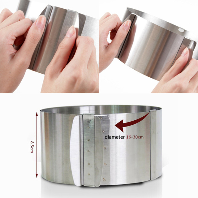 Retractable Circle Mousse Ring Mould stainless steel cooking utensils
