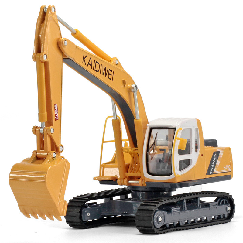 New KDW 621006 1:40 excavator Loader forklift truck model kids Toy car sound light alloy Engineering vehicles boy gift track