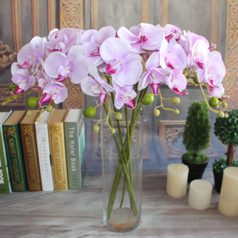 7 Different Colors Artificial Butterfly Orchid Silk Flower