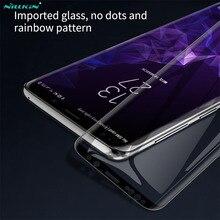 De vidrio templado para Samsung Galaxy S9 S9 + Note 9 S9 PLUS más Nillkin 3D DS + MAX completa de la cubierta de la pantalla protector para Samsung S9 película de vidrio