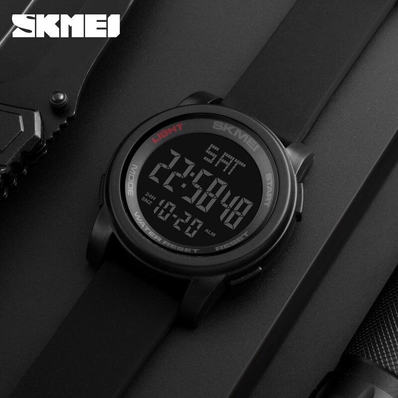 SKMEI 1257 Heren Sport-horloges Dubbele tijd Countdown Militaire - Herenhorloges - Foto 5