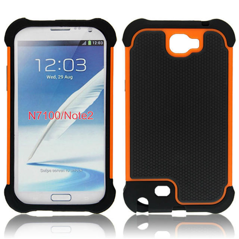 Note2 Ball Grain Heavy Duty Plastic Case Shockproof Cover For Samsung Galaxy Note 2 II N7100