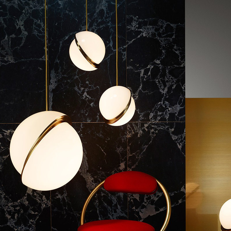 Post-modern Lee Broom Mini Crescent Designer Pendant Light For Living Room Dining Room Dia 20/30/40cm Acrylic Iron Lamp 1416