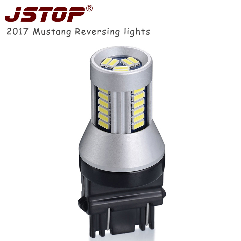 Jstop Mustang Led Car Light Canbus 6000k Car T25 Bulbs Backup-lamp External Lights 12-24vac 3157 P27/7w Led Auto Reversing Bulbs Famous For Selected Materials Delightful Colors And Exquisite Workmanship Novel Designs