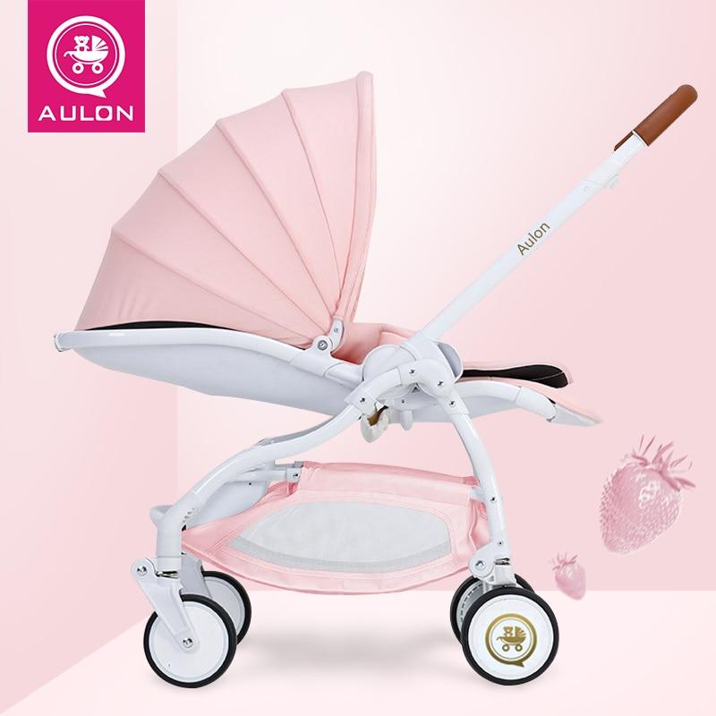 Baby stroller European ultra-light folding 178 degrees newborn baby umbrella car