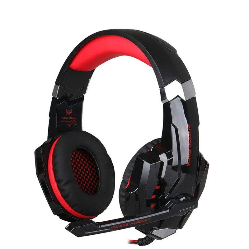 ZAPET G9000 Surround Sound Version Spiel Gaming Kopfhörer USB 3.5mm AUX PC Headset Kopfhörer Stirnband mit Mikrofon LED Licht