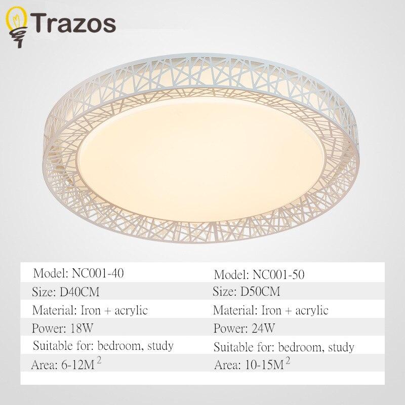 TRAZOS Moderne LED plafond lumière nid D'oiseau conception Ronde simple décoration étude des appareils