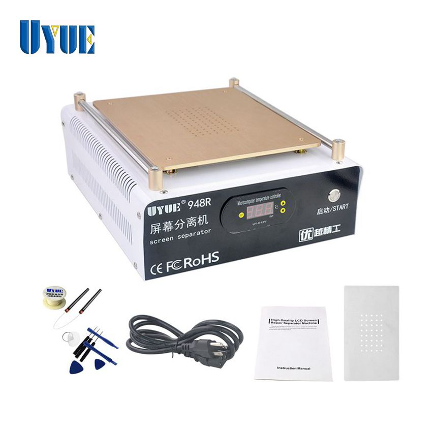 UYUE 948R New Mobile Phone Built-in Pump Vacuum Metal Body Glass LCD Screen Separator Machine+LED Display For Max 14 Inch LCD sast 10 1 inch display nintaus machine singing old machine 50p lcd screen hw101f 0b 0c 50