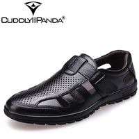 CuddlyIIPanda 2017 Men Casual Genuine Leather Summer Shoes New Arrival Breathable Fashion Male British Style Leisure
