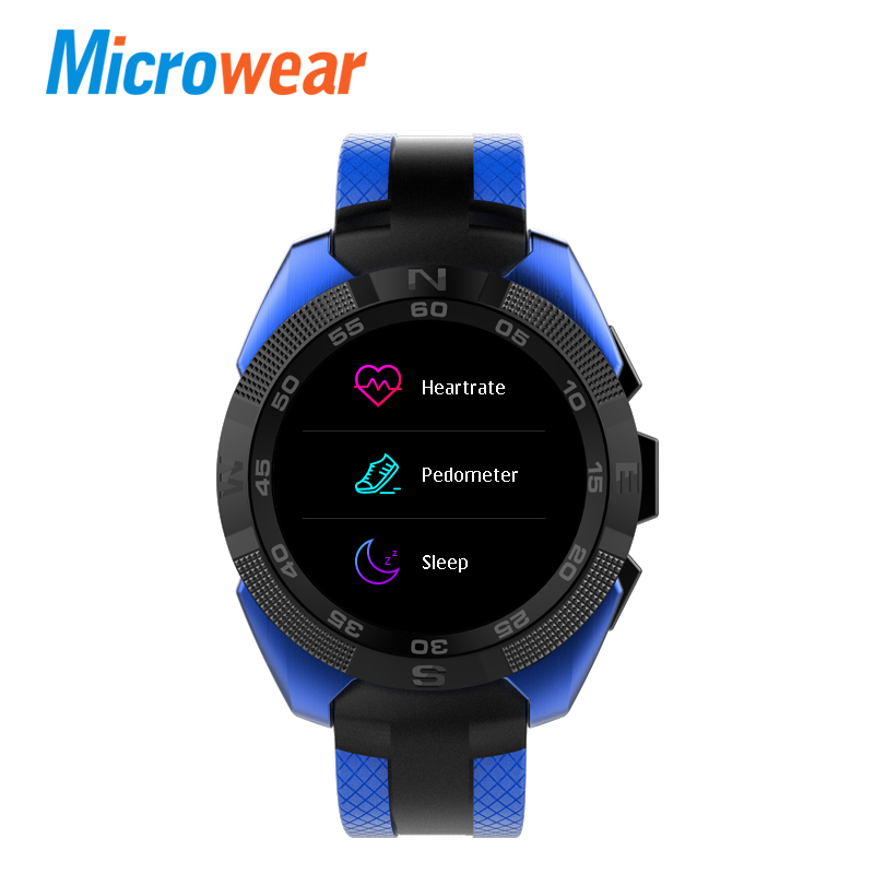 купить Microwear L3 Smart Watch Bluetooth Calling smart bracelet Heart Rate smartwatch Pedometer men Sports watches Bluetooth Camera по цене 3054.38 рублей