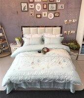 2017曼荼羅寝具刺繍姿勢ミリオンロマンチック柔らかい寝具平野女王王女の子レース布団カバーセット4ピー