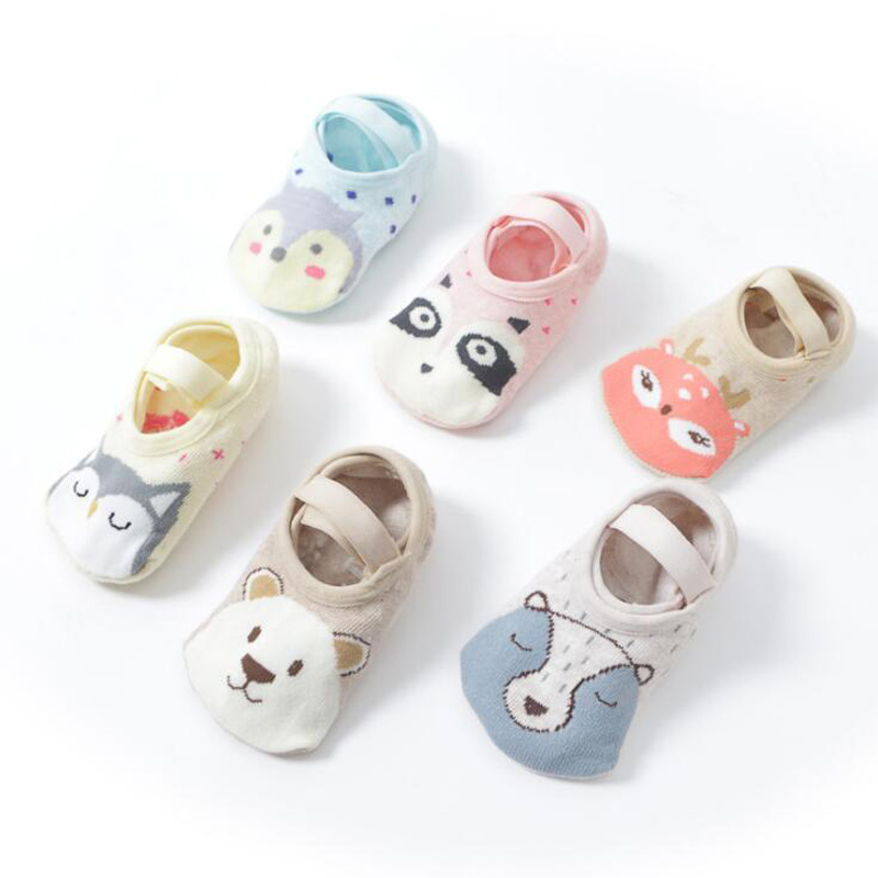 New Cartoon Animal Baby Toddler Socks Non-slip Children's Floor Socks