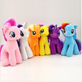 18cm Cartoon Kawaii Plush Twilight Sparkle Rainbow Dash Applejack Rarity Fluttershy Pinkie Pie Little Horse Stuffed Plush Toys