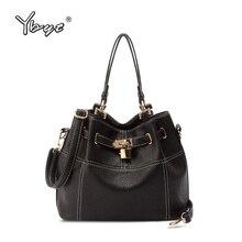 vintage casual small bucket tote hotsale women black leather handbag ladies party purse clutch crossbody shoulder messenger bags