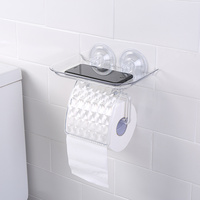 A1 Bathroom suction cup toilet roll paper holder free punching bathroom shelf tissue box toilet paper tray wx8171710