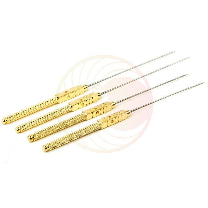 4pcs 0.6*15/30/40/50mm Four-hole non-disposable acupuncture needles korea beauty massage needle reusable
