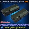hot 60G HDMI wireless transmission 30m Wireless 1080P HD TV PC Video 60G HDMI Wireless Transmitter and Receiver Free Shipping