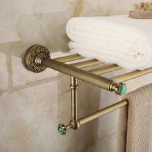 Free доставка настенное крепление стиль Европа всего латунь Ванной вешалка для полотенец отель вешалка для полотенец полотенце полки