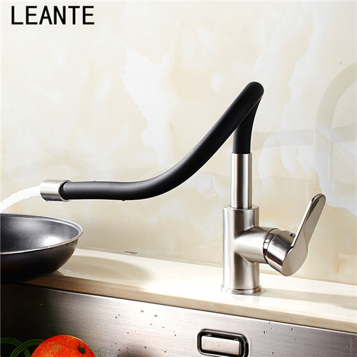 Attractive LEANTE Kitchen Universal Tube Hot And Cold Kitchen Drawing Spring Taps Red  Red Tricolics 9104