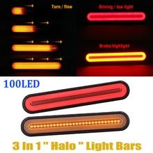 2 шт. супер яркий прицеп задние фонари светильник s 12-24V неоновая лампа светодиодный RV прицеп стоп пропуская сигнала поворота Стоп-сигнал задний светильник