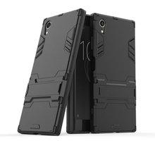 3D שריון מקרה עבור Sony Xperia XA1 בתוספת כפולה G3421 G3423 G3412 עבור Sony Xperia XZ1 קומפקטי G8441 XA1 XZ1 XZ XZs טלפון כיסוי מקרה