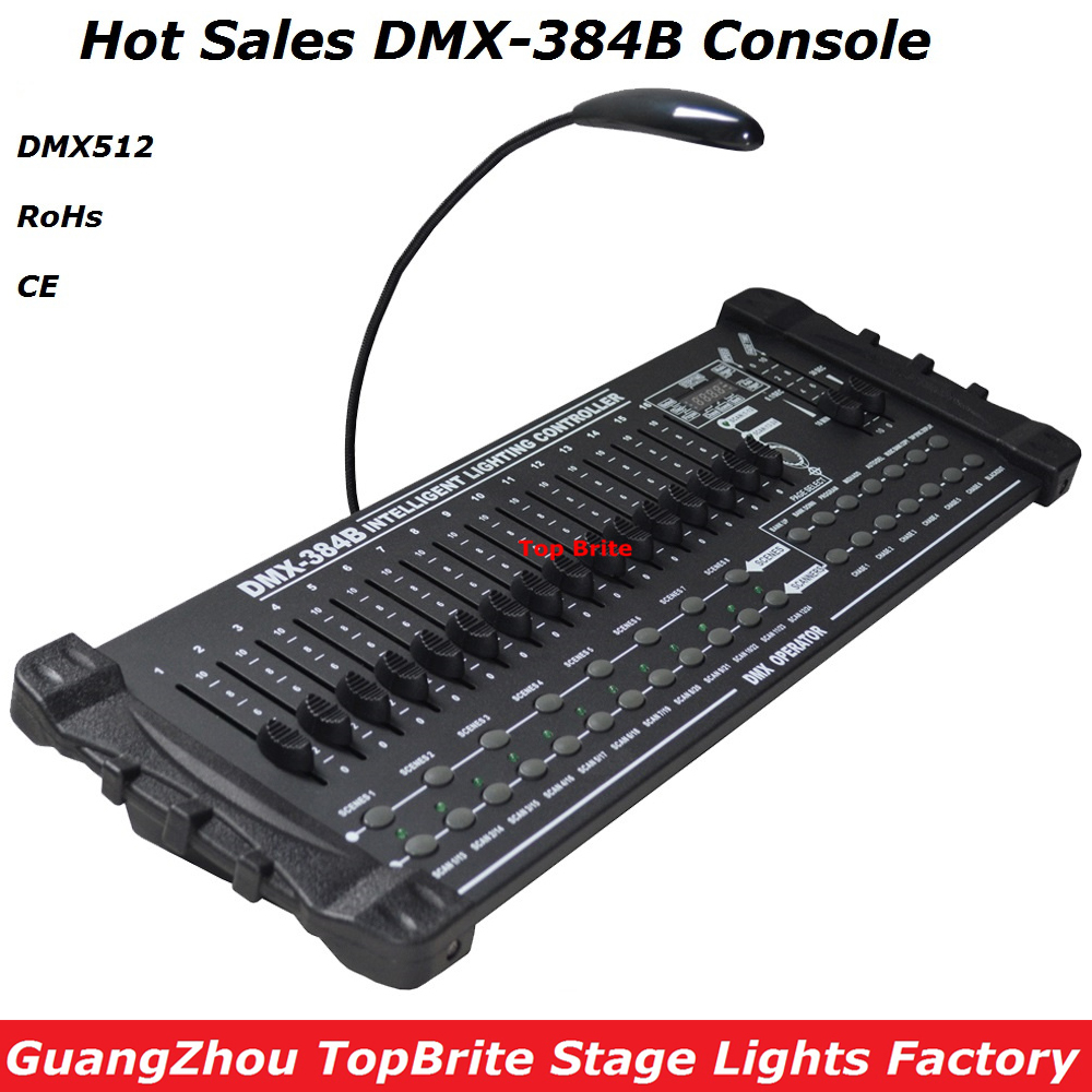 2017 New Factory Price DMX512 Controller Professional DMX 384B Console Stage Light Disco DJ Club Party Lights Audio Equipments lightme professional stage dj dmx stage light 192 channels dmx512 controller console dj light for disco ktv home party night