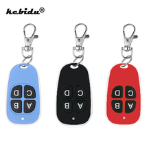 kebidu Colorful Cloning Remote Control Electric Copy Controller Mini Wireless Transmitter Switch 4 buttons Car Key Fob 433MHz