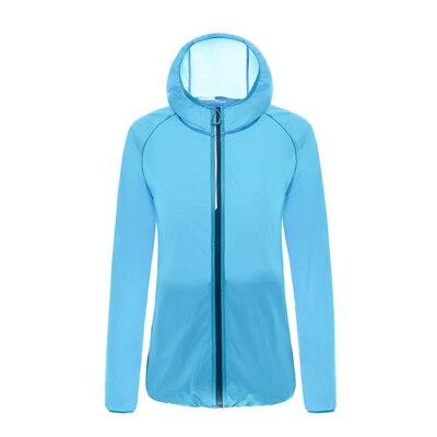 Кожаная одежда для женщин, Ультралегкая спортивная куртка, летняя Солнцезащитная одежда с защитой от ультрафиолета, верхняя одежда, новые куртки с капюшоном для бега и бега, женские куртки - Цвет: 8569 hl