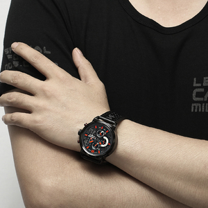Image 4 - Naviforce Luxe Merk Man 3ATM Waterdicht Klok Mannen Analoge Quartz 24 Uur Datum Horloges Mannen Sport Lederen Horloge Original