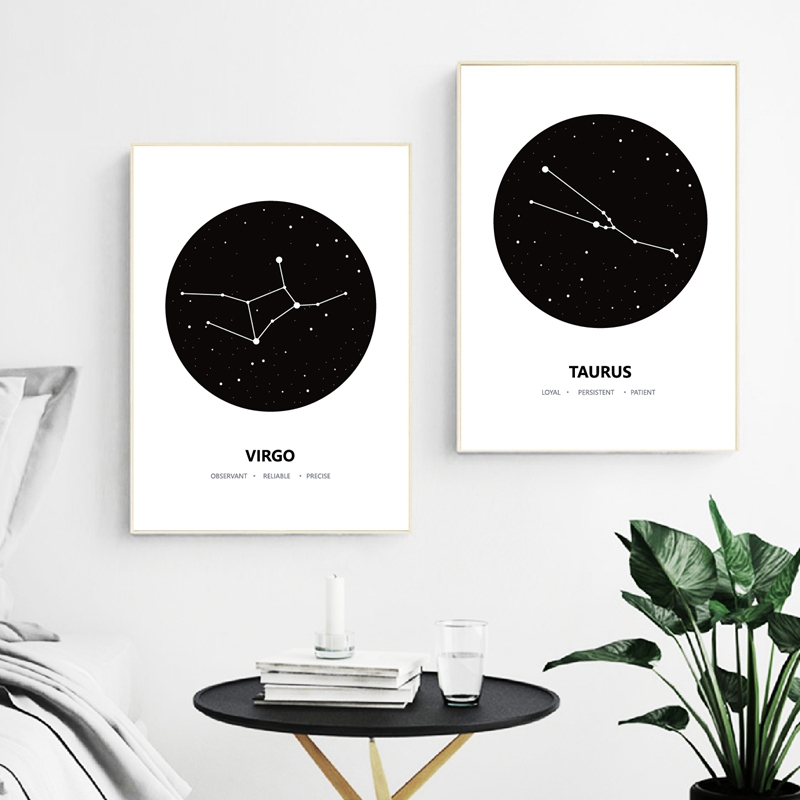 Constellation Abstract Canvas Art Print