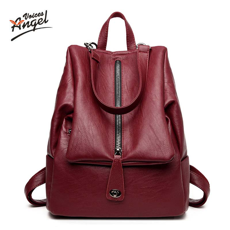 Backpack Natural Soft <font><b>Real</b></font> Leather Backpacks Genuine First Layer Cow Leather Top Layer Cowhide Women Backpack School Bags