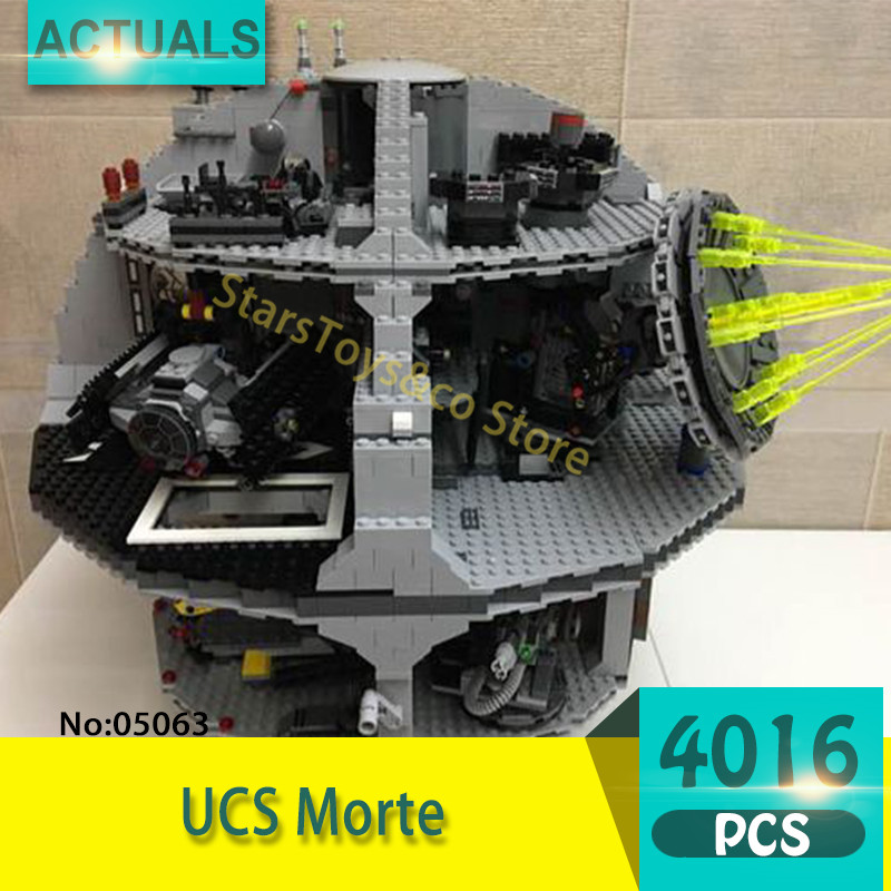 Lepin 05063 4016Pcs  UCS Death Star Model Building Blocks Set  Bricks Toys For Children Gift Educational toys Star Series Wars lepin 6125 stucke star classic modell wars die ucs st04 republic cruiser educational building blocks bricks spielzeug mode