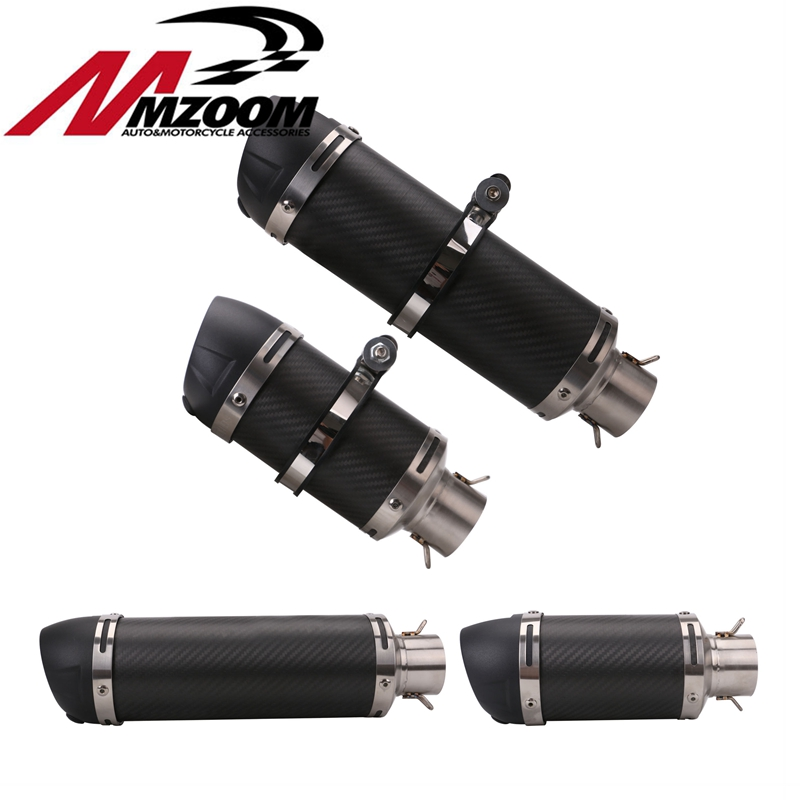 Motorcycle Exhaust Modified Silencer Carbon Fiber Exhaust Pipe for CBR 125 250 YZF FZ400 CB400 CB600 Z750 Racer Exhaust Pipe soludos низкие кеды и кроссовки