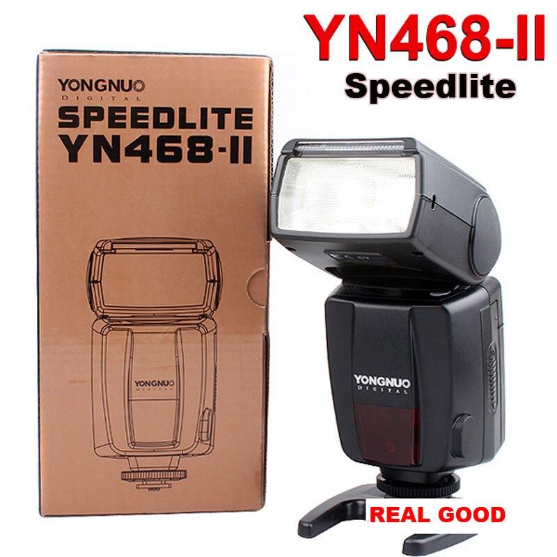Yongnuo YN-468 YN468 II камеры flash-speedlite флэш-вспышки для Canon 7D 60D 50D 40D 30D 600D 550D 500D 450D 400D 350D 1100D 1000D