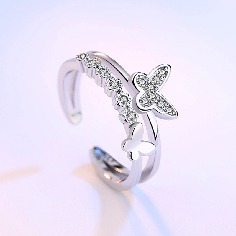 Double Butterfly Engagement Rings