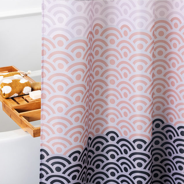 Online Shop Aimjerry Longer Pink Bathtub bathroom Shower Curtain ...