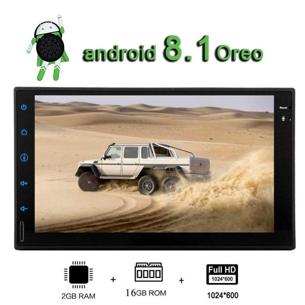 Mirrorlink FM/AM/RDS одновременное подключение двух телефонов дополнительный OBD2/DVR/DAB +/4G EinCar Android 8,1 автомобильная стереосистема радио двойной Din 2 ГБ +