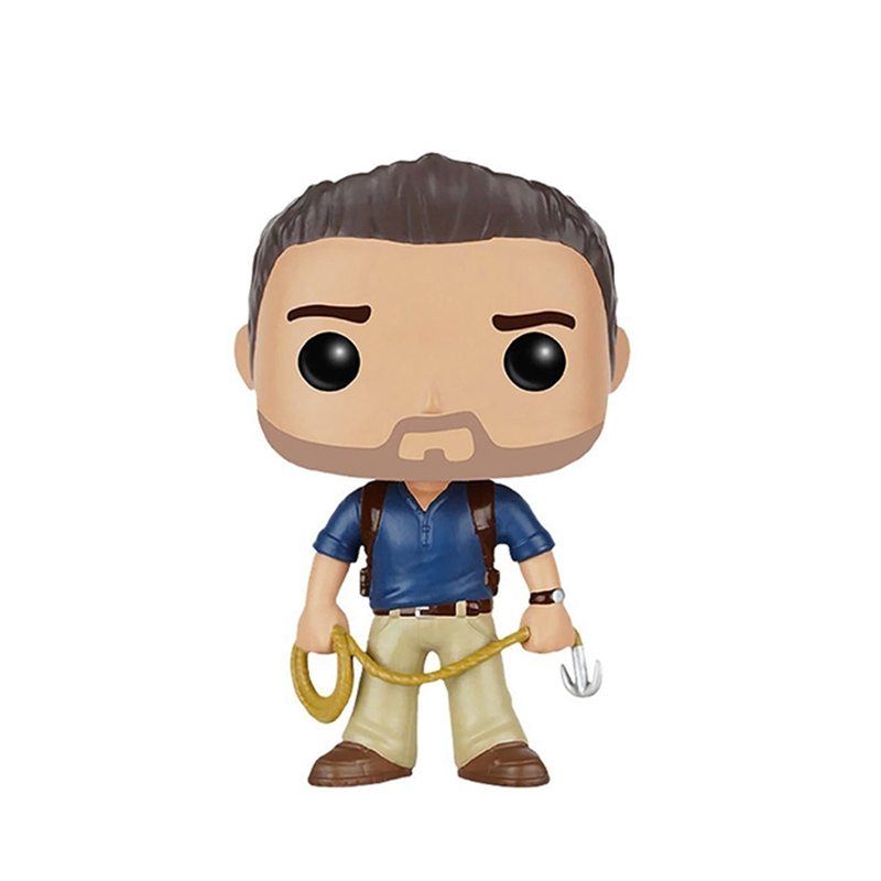 10cm Uncharted Nathan Drake POP Action Figure Toys Doll Kids Baby Christmas Gifts