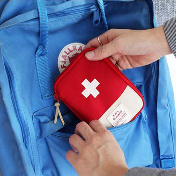 Travel Portable Storage Bag First Aid Emergency Medicine Bag Outdoor Pill Survival Organizer Emergency Kits Package lecture notes emergency medicine