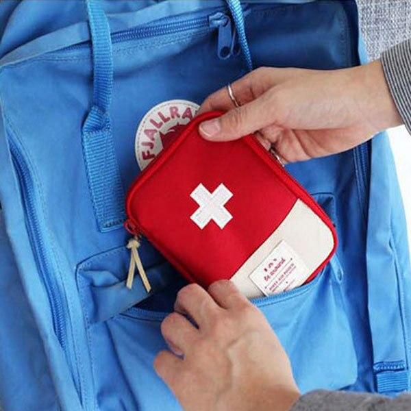 Voyage Portable sac de rangement premiers secours d'urgence sac de médecine en plein air pilule survie organisateur trousses d'urgence paquet