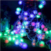 10 M Alimentato A Batteria LED String Luci Leggiadramente Capodanno Ghirlande Di Natale Decorazione Luci LED Cristams All'aperto Luzes De Natal