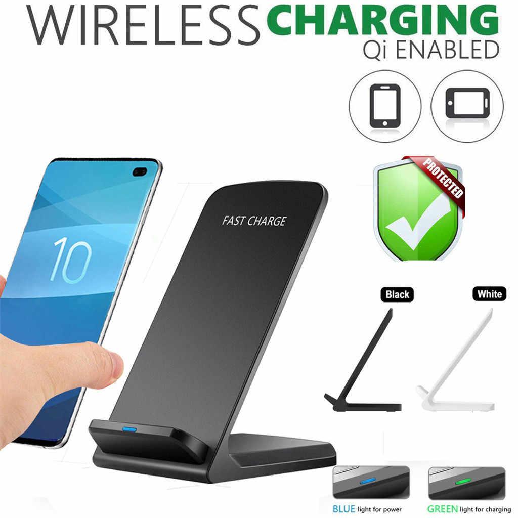 10 Вт Qi Беспроводное быстрое зарядное устройство Подставка для Samsung Galaxy S10 S10E Plus 9 В