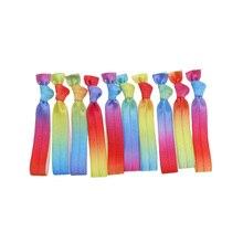 50 шт./упак. радуга цвет печати эластичные волосы галстуки Единорог FOE девушка аксессуары для волос