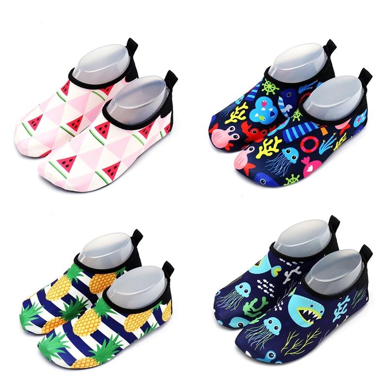 Children Water Sports Shoes Breathable Anti-slip Waterproof Pool Slippers Swim Socks Barefoot Footwear For Beach Swimming